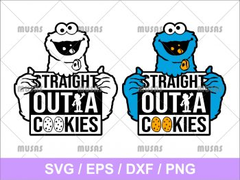 Straight Outta Cookies SVG
