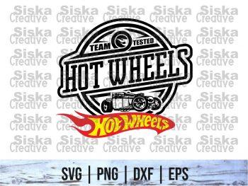Team Tested Hot Wheels SVG