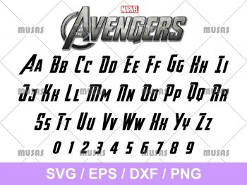 The Avengers Font SVG
