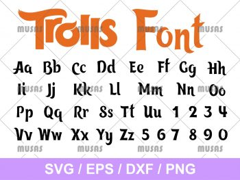 Trolls Font SVG