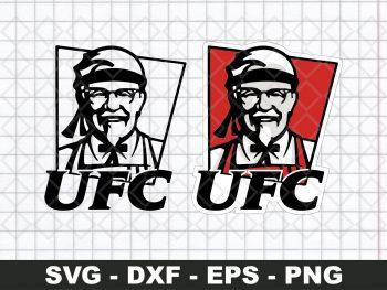 UFC KFC Funny Logo SVG