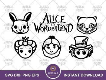 Alice in Wonderland Character Line