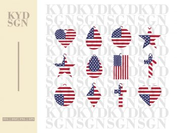 American Flag Earrings Design