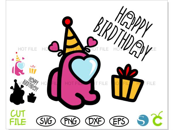 Among Us Birthday Baby Girl 1 Vectorency Among Us SVG Birthday Baby Girl, Among Us SVG Birthday Girl, Among Us SVG Birthday, Among Us SVG Cricut, Among Us SVG cut file