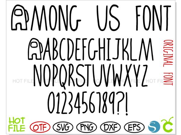 Among Us Font 1 1 Vectorency Among Us Font OTF + Among Us Font SVG + Among Us Logo svg vector   Among Us letters svg, Among Us numbers svg, Among Us alphabet svg