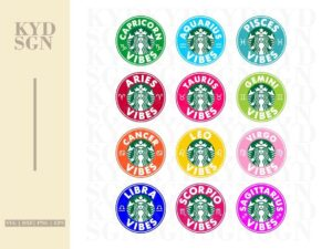 Astrology Zodiac Signs Starbucks Cold Cup SVG