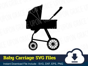 Baby Carriage SVG Files
