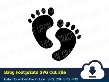 Baby Footprints SVG Cut File