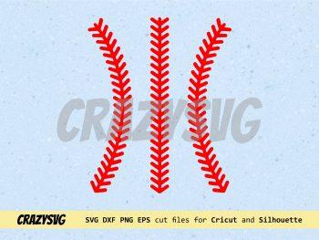 Baseball Stitching SVG File Baseball Laces Cricut Clipart