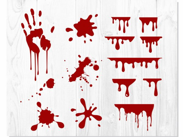 Blood Dripping 2 scaled Vectorency Blood Dripping Bundle | Blood Dripping Font, Blood Dripping Svg, font drips drops, blood drips svg, bloody hand svg, Halloween svg