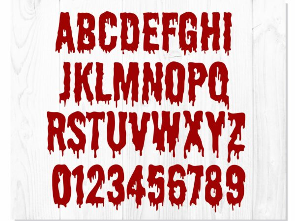 Blood Dripping 3 scaled Vectorency Blood Dripping Bundle | Blood Dripping Font, Blood Dripping Svg, font drips drops, blood drips svg, bloody hand svg, Halloween svg