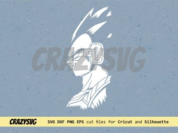 DBZ Dragon Ball Z Vegeta Silhouette SVG Clipart Vector Silhouette