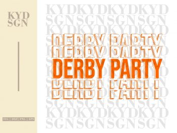 Derby Party SVG