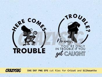 Disney Aladdin SVG Here Comes Trouble