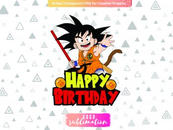 Dragon Ball Goku Cake Topper Happy Birthday Printable