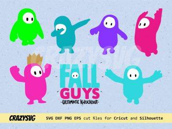 Fall Guys Stencil Digital Download ClipArt