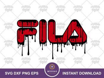 Fila Brand Logo Drip
