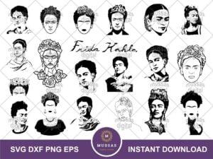 Frida Kahlo SVG Bundle Frida Kahlo Vector