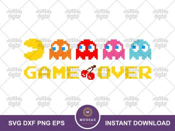 Game Over Pac-man PNG Pacman SVG Clipart