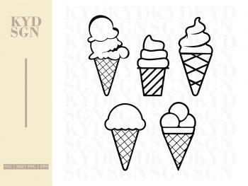 Ice Cream SVG Clipart