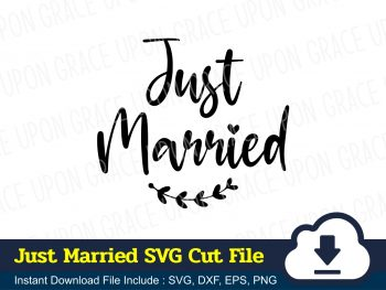 Just Married SVG