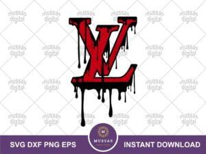 LV Brand Logo Drip