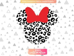Leopard Minnie Mouse Head