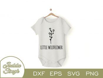 Little Wildflower T Shirt Design SVG