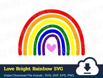 Love Bright Rainbow SVG