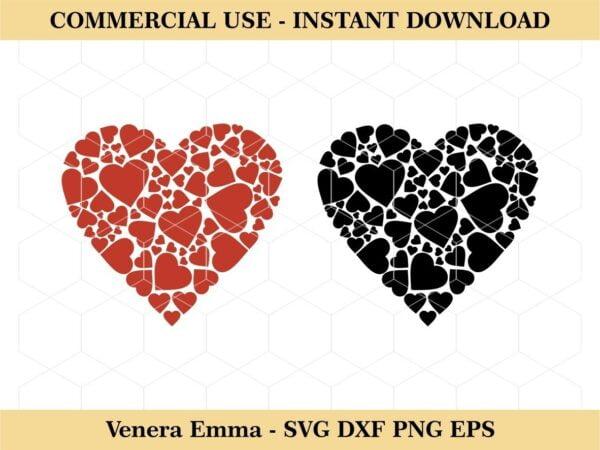 Love Heart Clipart Cut Files SVG