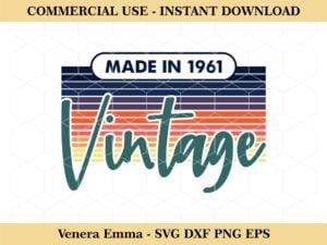 Made In 1961 Vintage