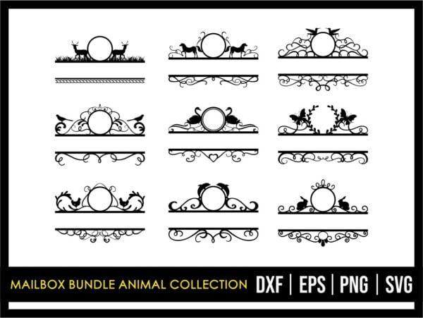Mailbox SVG Bundle Animal Collection