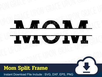 Mom Split Frame SVG