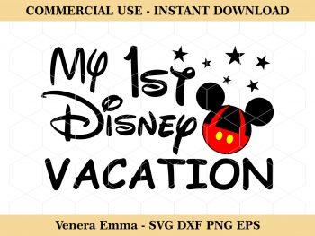 My 1st Disney Vacation Cut File