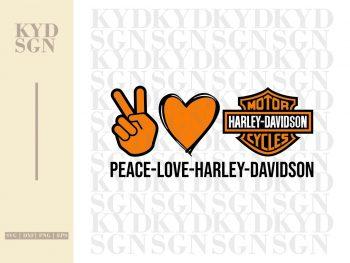 Peace Love Harley Davidson SVG