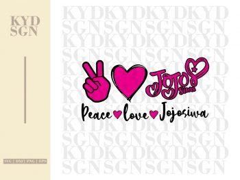 Peace Love Jojosiwa SVG