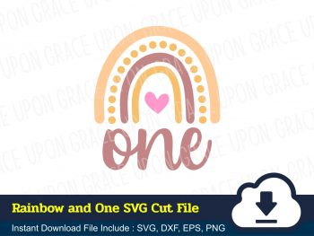 Rainbow and one SVG Cut File