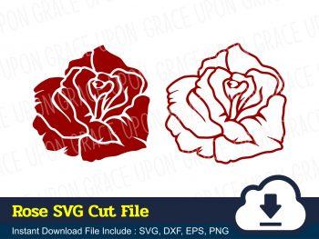 Rose SVG Cut File