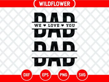 Split Dad SVG