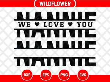 Split Nannie SVG