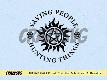 Supernatural SVG Saving People Hunting Things