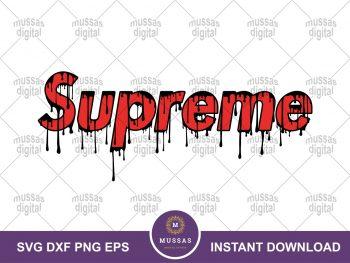 Supreme Brand Logo Drip