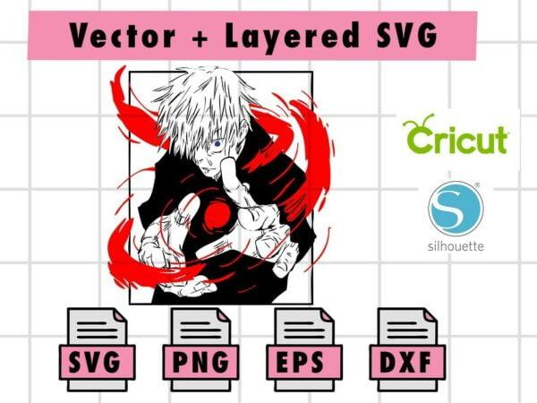 THUMBNAILVectorency 1 Vectorency Jujutsu Kaisen Gojo Satoru Svg,png,eps,dxf Files | Instant Download