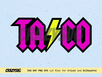 Taco SVG ACDC Style