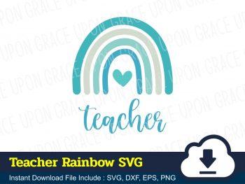 Teacher Rainbow SVG