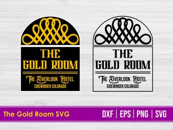 The Gold Room Digital Cut File The Shining SVG