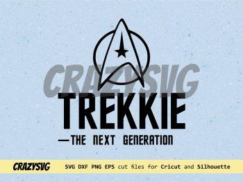 Trekkie The Next Generation Star Trek Cut File