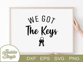 We Got The Keys SVG
