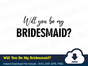 Will You Be My Bridesmaid SVG