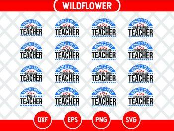 World's Best Teacher SVG Bundle